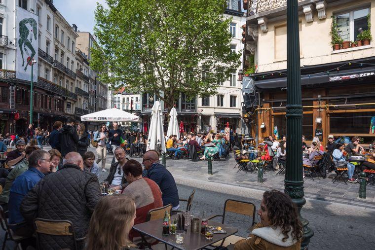 Beim Straßenbummel durch Belgien entdeckst du sicher auch den Place St. Gery.