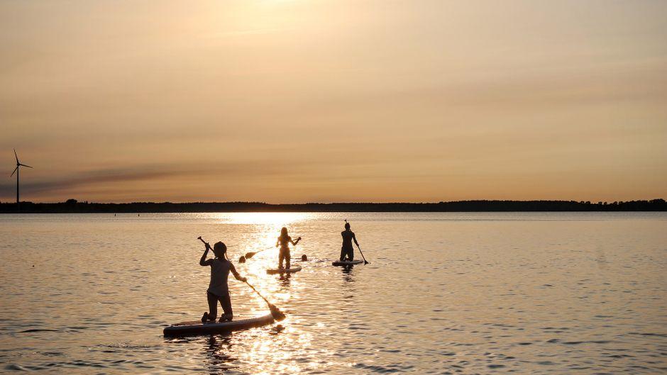 In Deutschland gibt es einige Seen, auf denen Stand-up-Paddling möglich ist.
