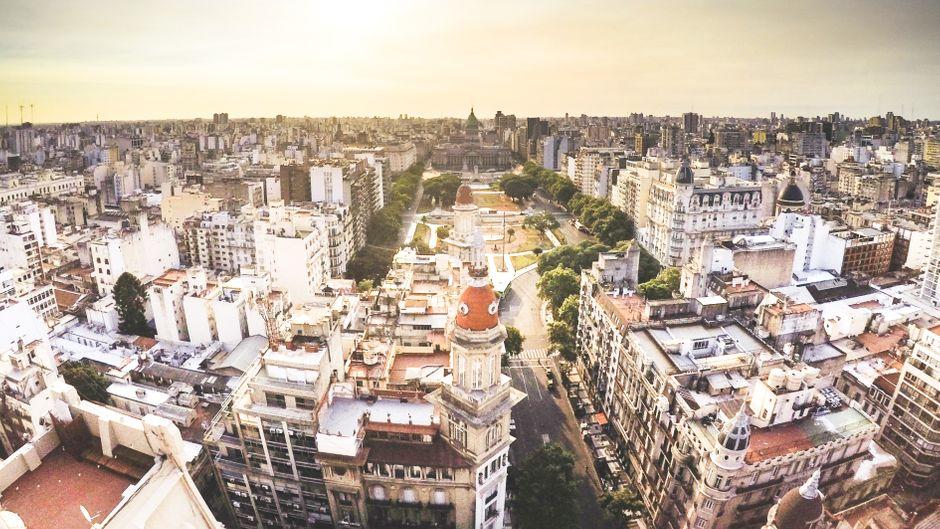 Buenos Aires von oben.