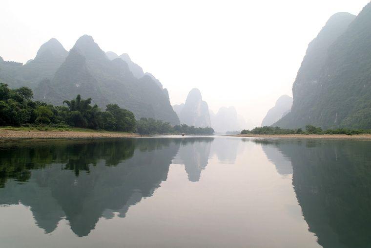 Das Panorama von Guilinin China diente als Hintergrund für den Planeten Kashyyyk, Heimat von Chewbacca, in Episode III.