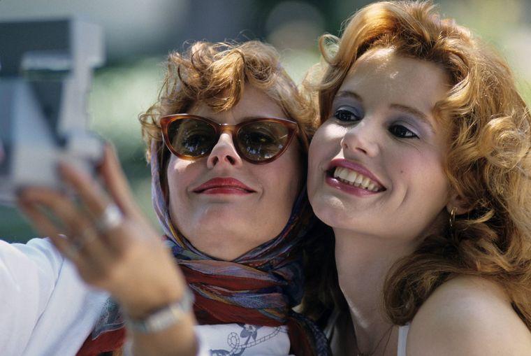 """Ein Bild aus dem Roadmovie """"Thelma & Louise""""."""