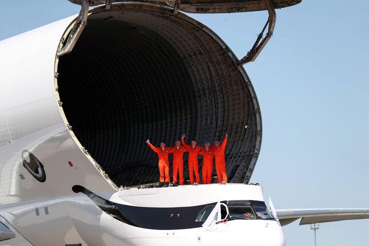Der Transportraum der Beluga XL ist riesig.
