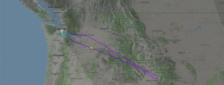 Nach rund eineinhalb Stunden Flug drehte der Southwest-Flieger um, weil ein Herz vergessen worden war.