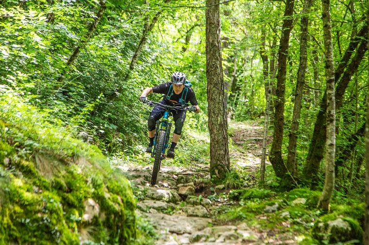Auch sportliche Herausforderungen findest du auf den neuen Radwegen.