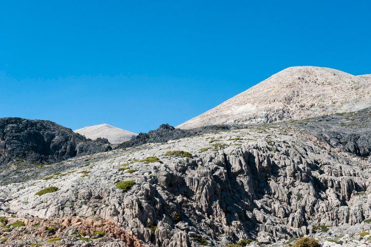 Die beeindruckenden weißen Berge auf Kreta.