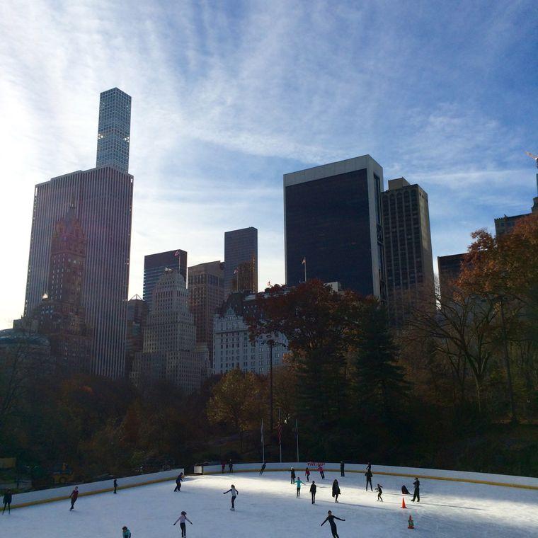 Muss sein: Eislaufen im Central Park.