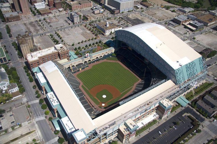 Sicht auf das Minute Maid Park-Stadion, Houston