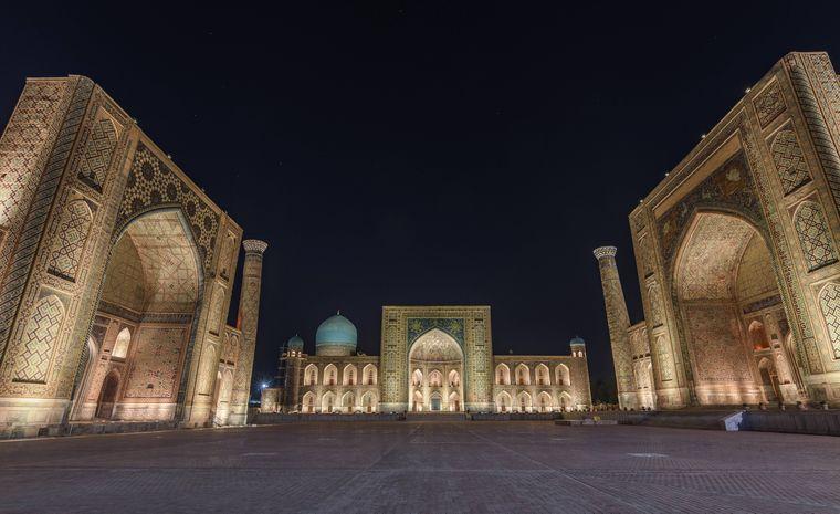 Der Registan in Samarkand ist DAS Must-see in Usbekistan. Der Hauptplatz der antiken Stadt.