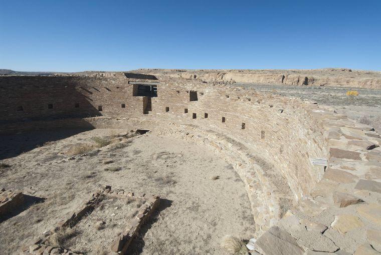 Die Casa Rinconada im Chaco Canyon.