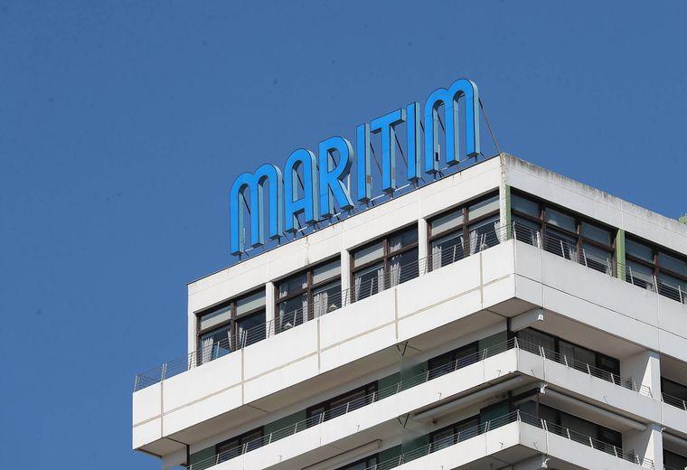 Schriftzug Maritim Hotel Travemuende.