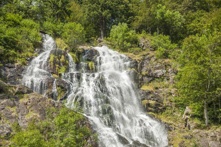 Die Todtnauer Wasserfälle im schönen Schwarzwald.