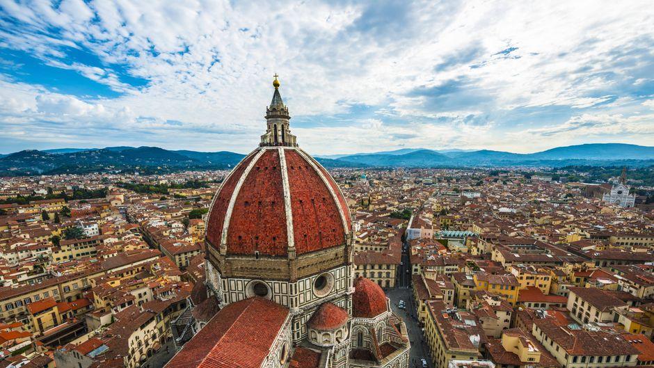 Beim atemberaubenden Blick über Florenz erkennt man, wieso es eine der meistbesuchten Städte Italiens ist.