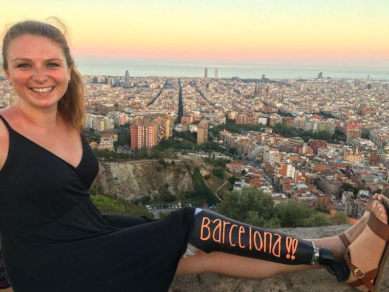 Die Amerikanerin Devon Gallagher während ihrer Europa-Reise.