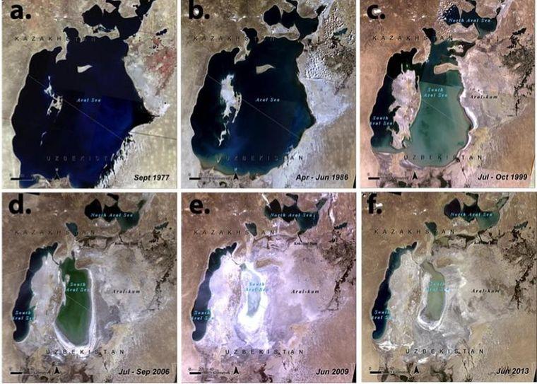 Die Wüste Aralkum breitet sich immer weiter aus – der Aralsee schrumpft.