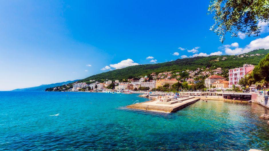Die malerische Küste Opatijas