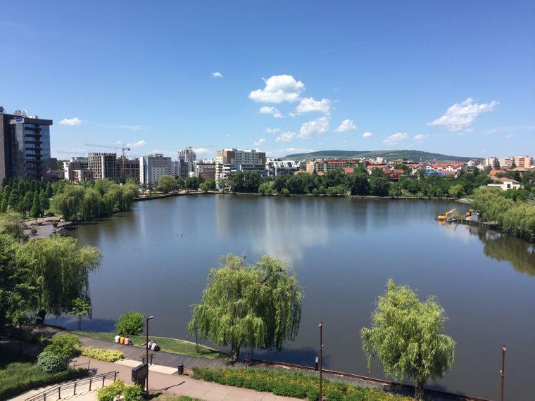 Blick auf Cluj, Iulius Mall