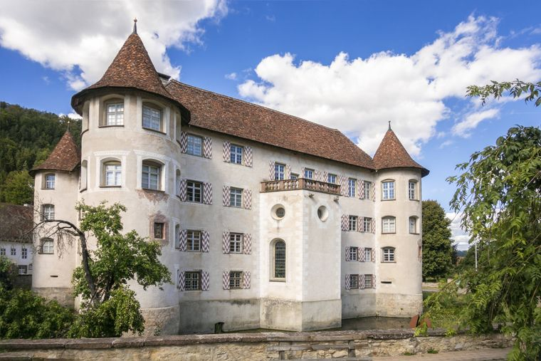 Wasserschloss Glatt in Sulz am Neckar in Baden-Württemberg.