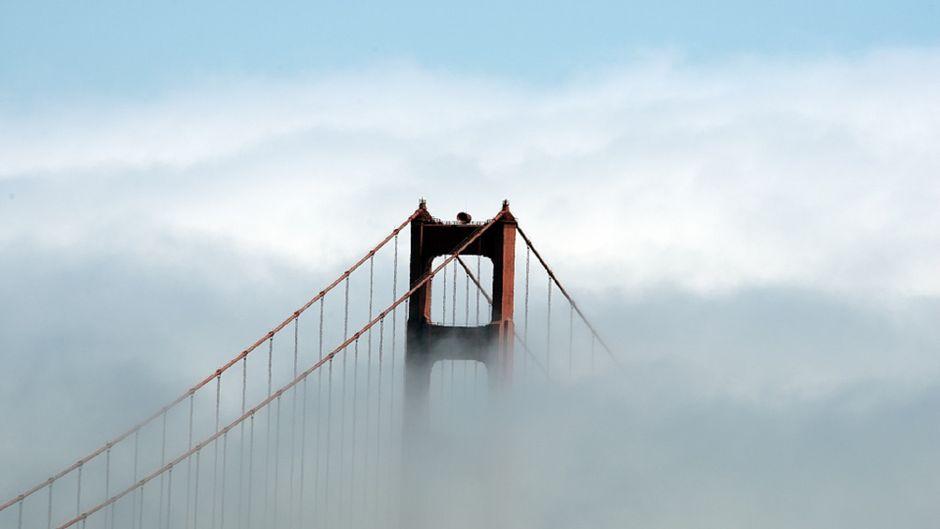 Typisch für San Francisco: Tief hängender, dicker Nebel.