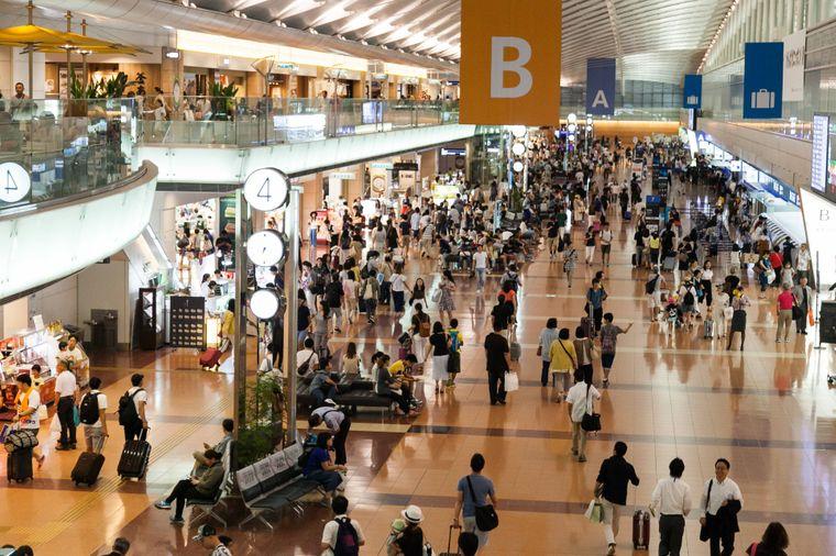 Trotz über 80 Millionen Fluggästen im Jahr ist der Haneda-Flughafen in Tokio laut Rating der sauberste von allen.