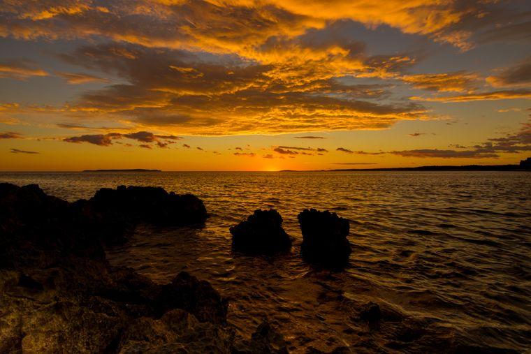 Sonnenuntergang in Istrien – schöner geht's nicht.