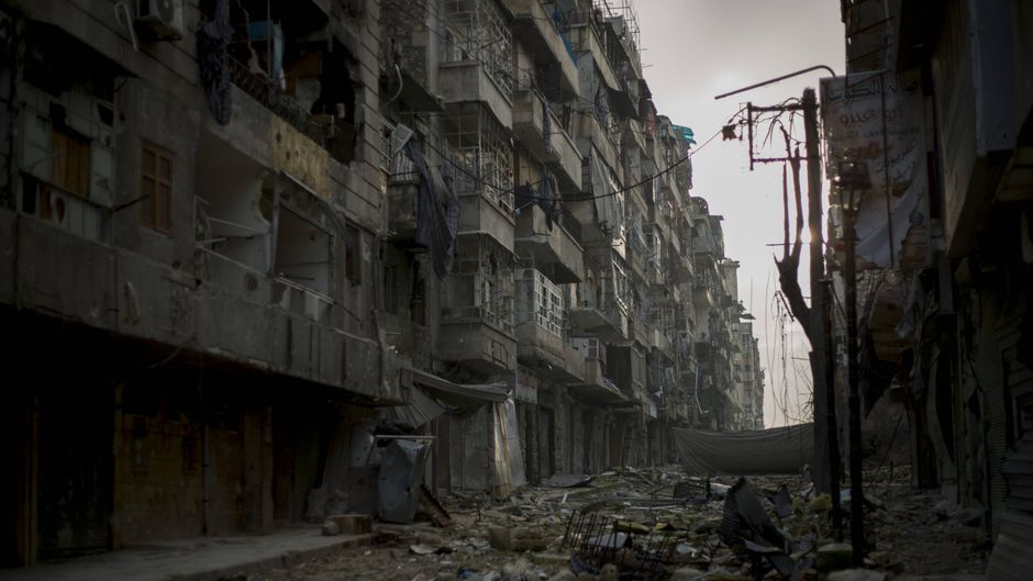Straße in Aleppo.