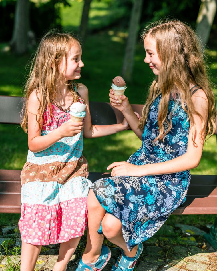 Josi und Luna waren gefühlt in jeder einzelnen Eisdiele