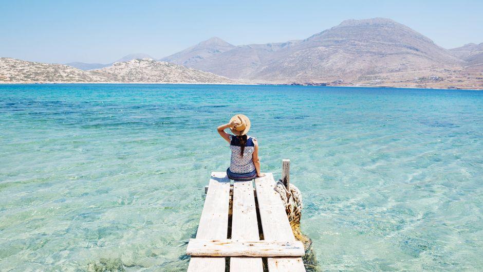 Einige griechische Inseln bleiben, wie hier auf Amorgos, bis heute vom Massentourismus verschont. (Symbolbild)