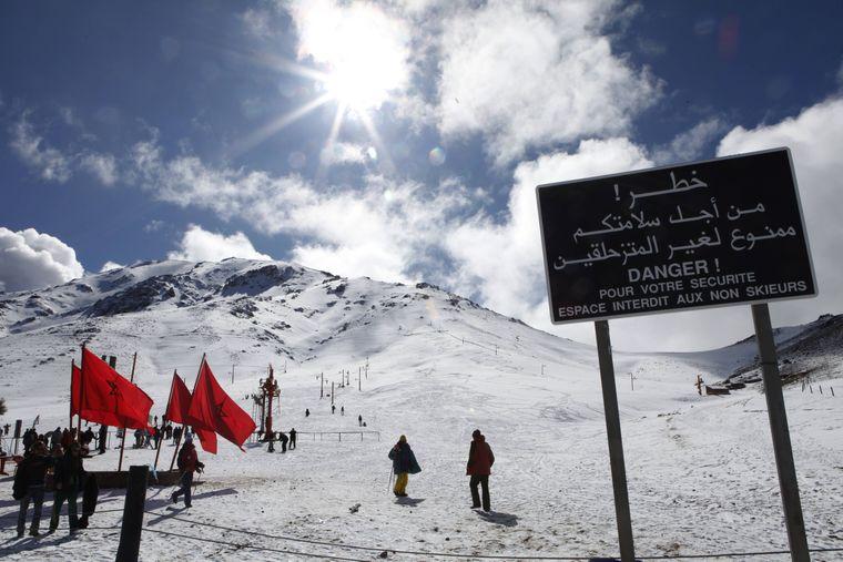 Skigebiet Oukaimede im Atlasgebirge (Marokko)