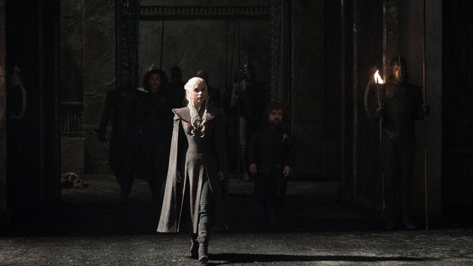 """Emilia Clarke am Set von """"Game of Thrones""""."""