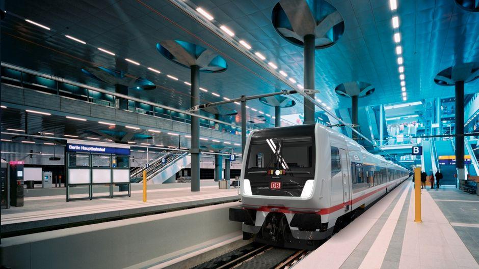 So soll er von außen aussehen: Der neue Eurocity-Zug der Deutschen Bahn.