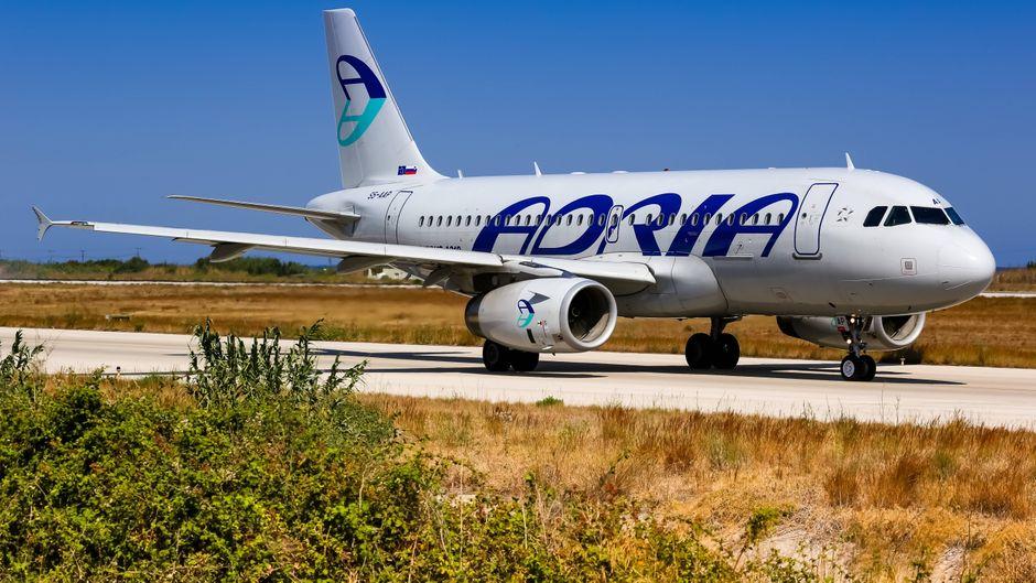 Flugzeug von Adria Airways.