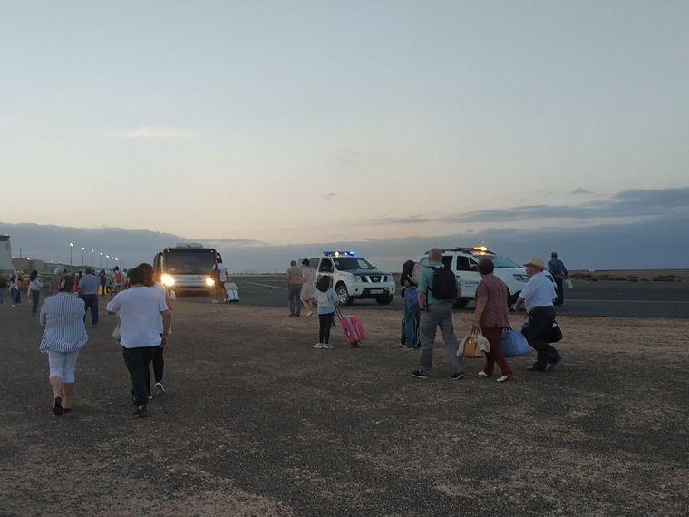 Evakuierung der Vueling-Maschine.