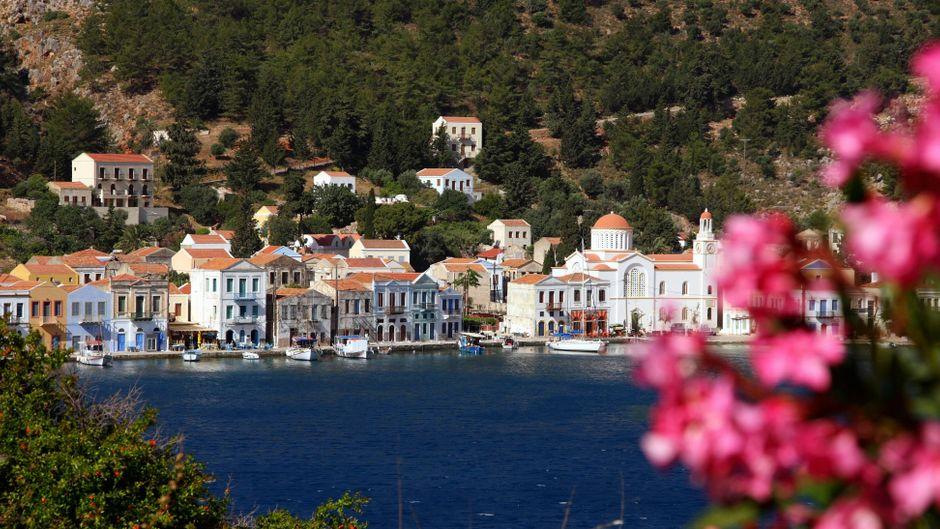 Idylle pur: Blick auf den gleichnamigen Hauptort auf der Insel Kastelorizo.