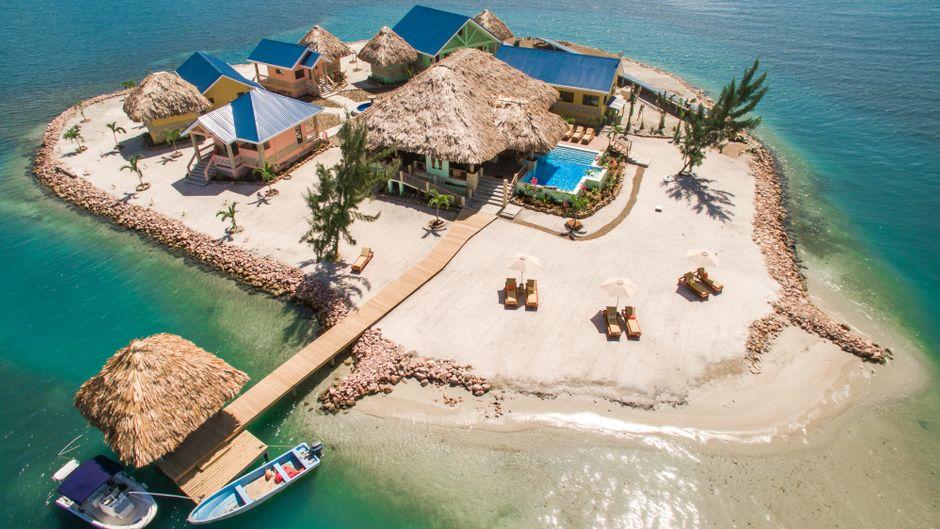 Vor der Küste Belizes liegt diese Privatinsel.