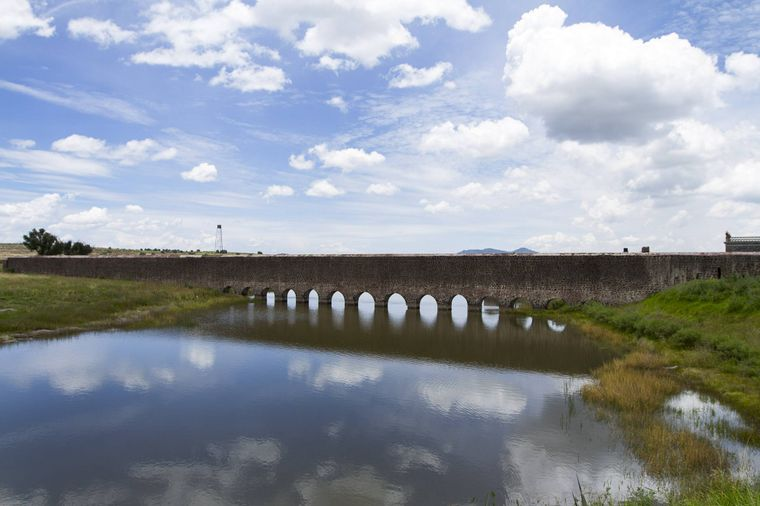 Eine der Sehenswürdigkeiten von Zempoala ist das Padre-Tembleque-Aquädukt.