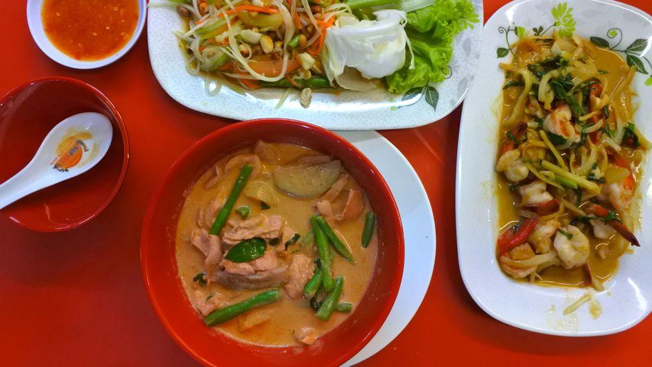 Thai Curry mit Chili Garnelen: Lecker!