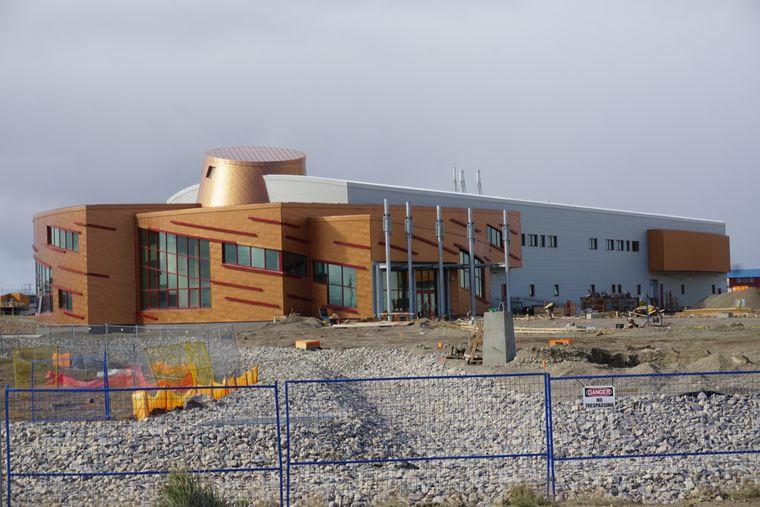 Die Forschungseinrichtung Arctic Research Center befindet sich noch im Bau.