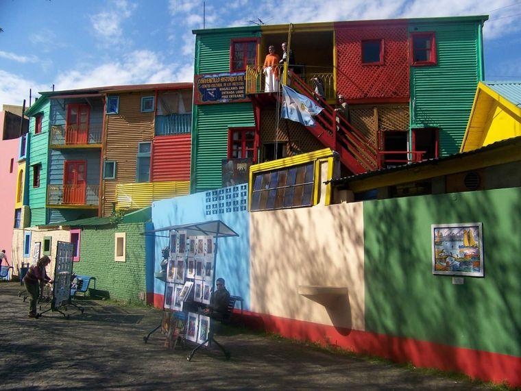 Der Caminito in Buenos Aires ist ein echtes Farbspektakel.