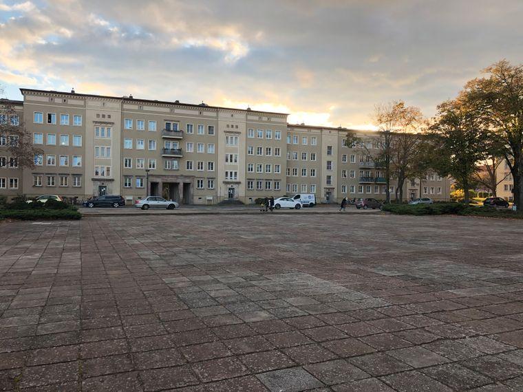 Typische Leere im WK I in Eisenhüttenstadt.