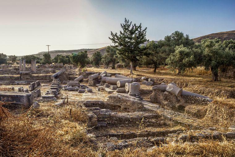 Die Ruinen von Gortyn sind eine beliebte Sehenswürdigkeit auf Kreta.