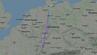 Flugroute des Eurowings-Flugs EW 7520 von Hamburg nach Barcelona, der nach Hannover umgeleitet wurde.