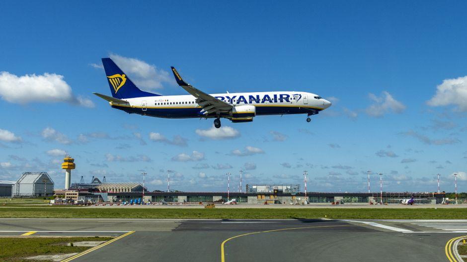 Landung einer Ryanair-Maschine am Flughafen Hamburg-Fuhlsbüttel: Ab Januar werden einige Verbindungen wegfallen.