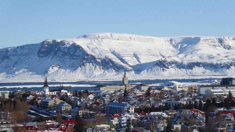 Eisige Schöhnheit: Reykjavik im Februar.