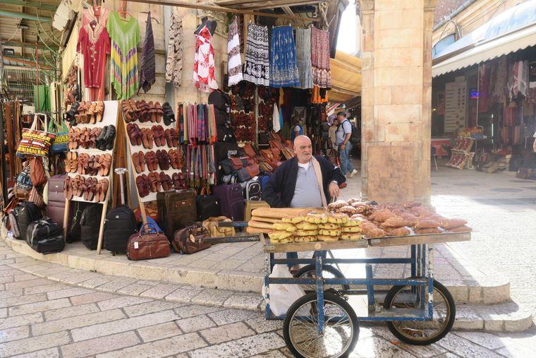 Snackstation im christlichen Viertel von Jerusalem.