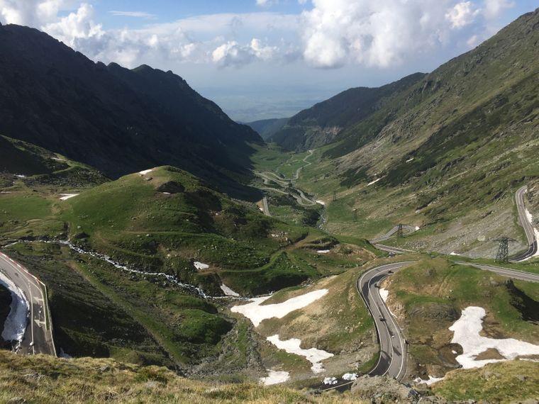 Die Transfăgărășan in Transsilvanien