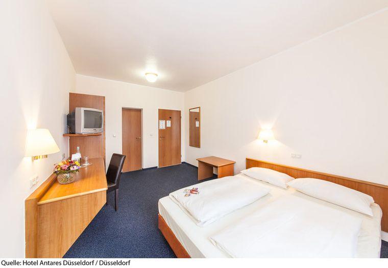 Antares Hotelzimmer in Düsseldorf.