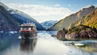 "Die ""MS Roald Amundsen"" im Tracy Arm Fjord in Alaska."