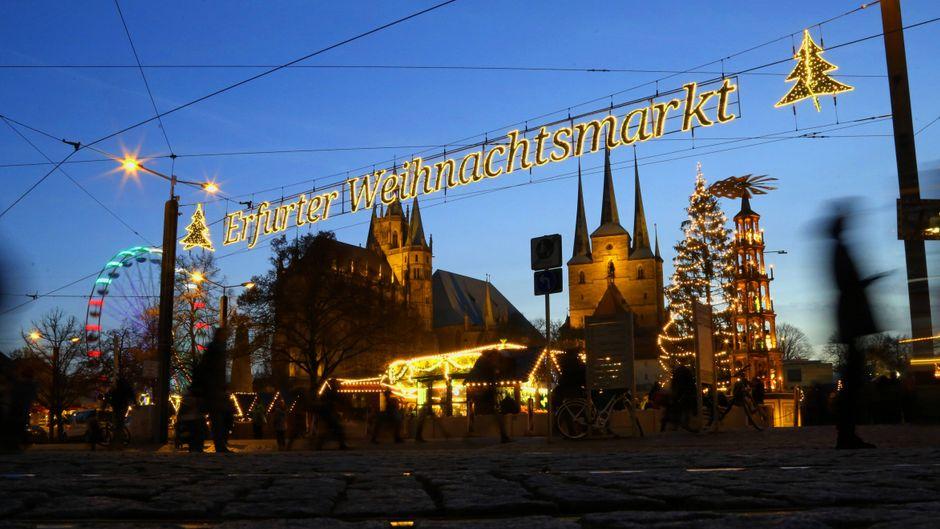 Der Weihnachtsmarkt in Erfurt zählt zu den beliebtesten in Europa.