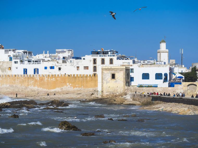 Blick auf Essaouira, marokkanische Stadt am Atlantik.