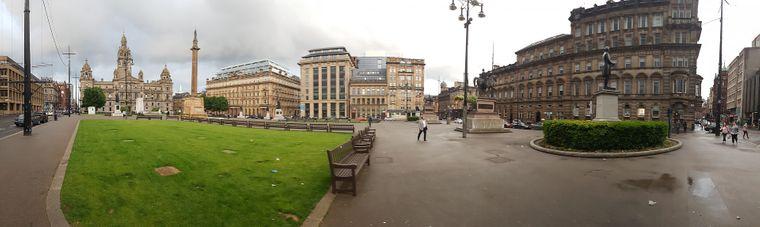 Das George Square in Glasgow ist eine der bekanntesten Sehenswürdigkeiten der Stadt.